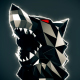 Blinking Low Poly Wolf Head VJ Loop - VideoHive Item for Sale