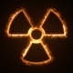 Fire or Flow Energy From Nuclear and Biohazard Symbols - VideoHive Item for Sale