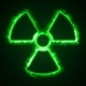 Green Fire or Flow Energy From Nuclear and Biohazard Symbols. - VideoHive Item for Sale