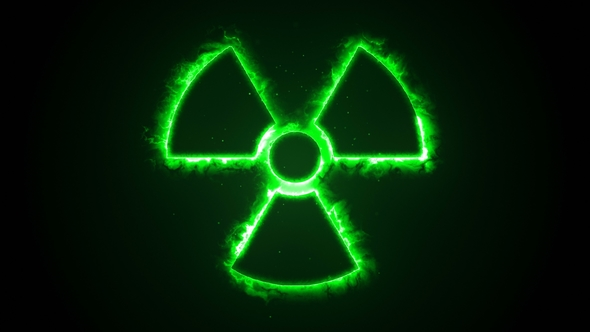 green fire or flow energy from nuclear and biohazard