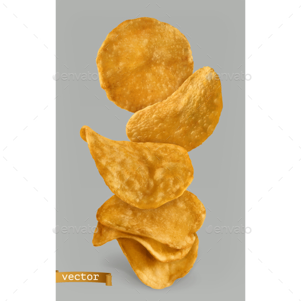Potato Chips - Food Objects