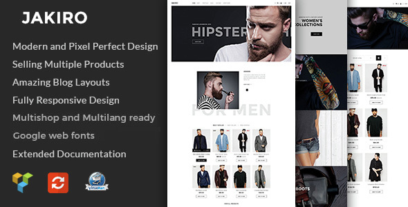 Jakiro - Fashion Shop Virtuemart Template - VirtueMart Joomla
