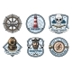 Nautical Retro Badges of Sea - GraphicRiver Item for Sale