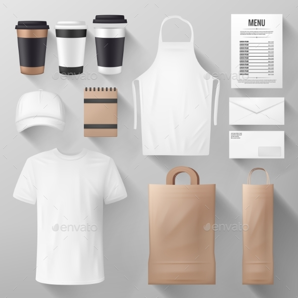 Restaurant and Cafe Corporate Identity Template - Food Objects
