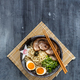 Miso ramen bowl with chasu, egg, daikon, copyspace - PhotoDune Item for Sale