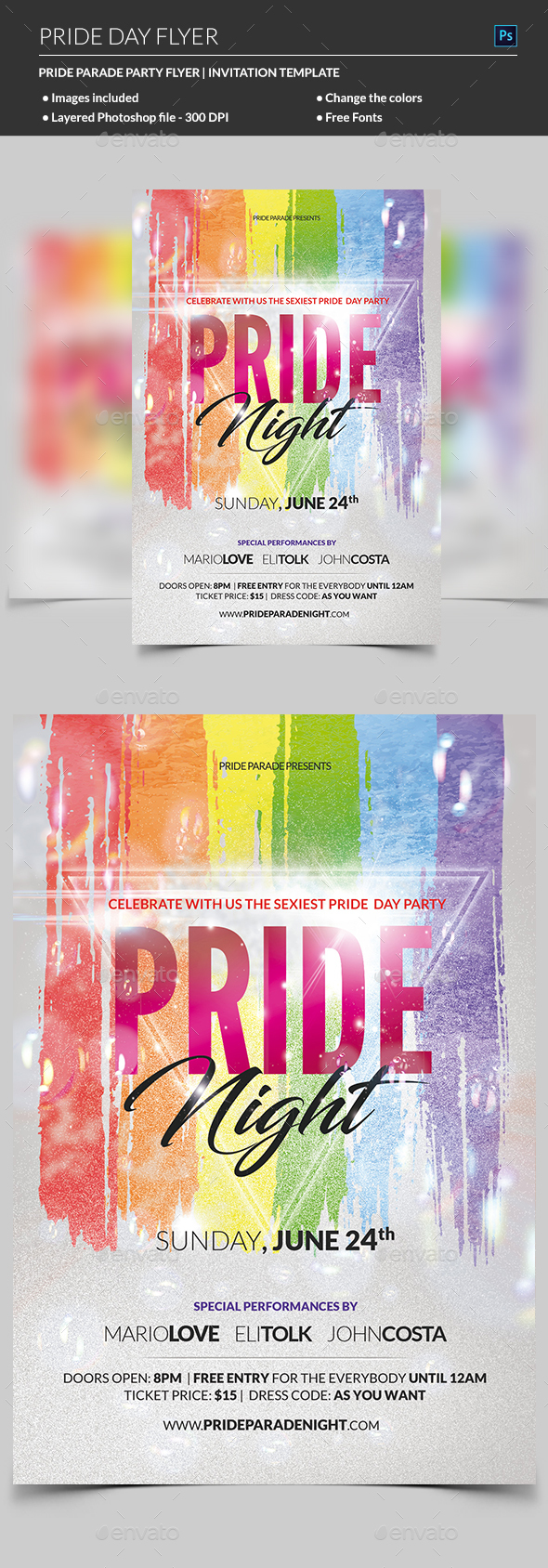 Pride Flyer - Clubs & Parties Events