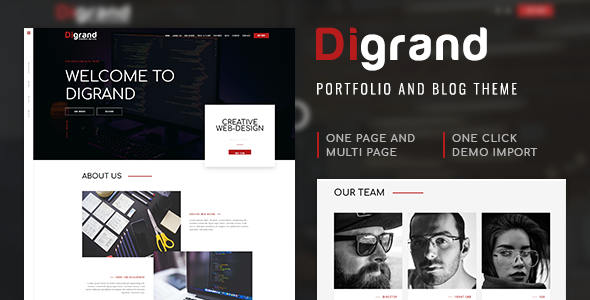 Image of Digrand - Portfolio And Blog Theme