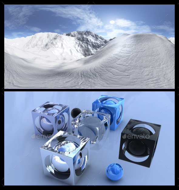 Snow 5 - HDRI - 3DOcean Item for Sale