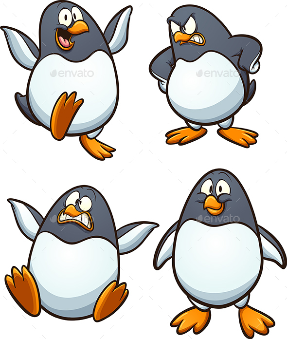 Cartoon Penguin - Animals Characters