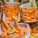 Tapas with shrimps seen at a market - PhotoDune Item for Sale