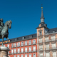The Statue of King Philip III and the beautiful buildings at the Plaza Mayor - PhotoDune Item for Sale