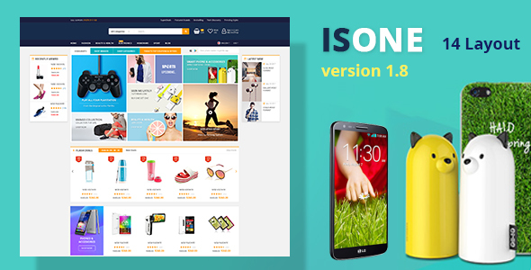 IsOne Store - RTL  WooCommerce WordPress For Digital Theme