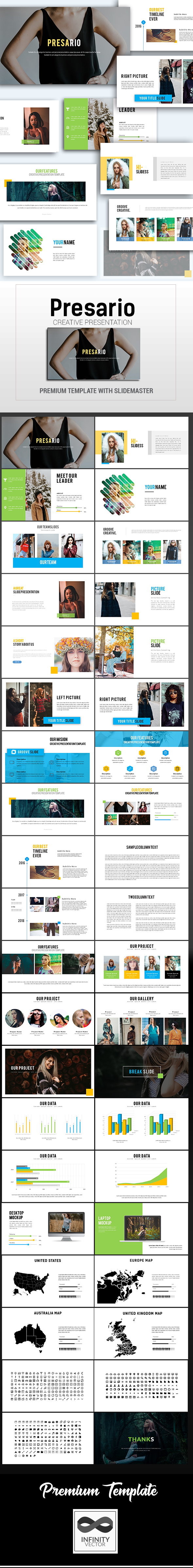 Presario Creative Presentation Google Slide - Google Slides Presentation Templates