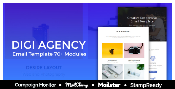 Image of Digi - Responsive Email Template For Agency - StampReady + Mailster & Mailchimp & Campaign Monitor