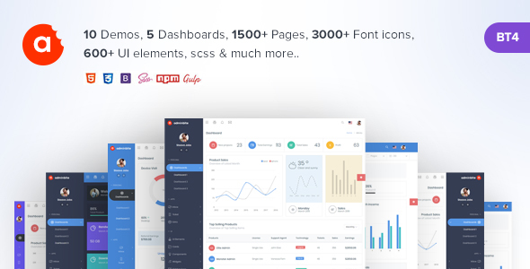 AdminBite Powerful Bootstrap 4 Admin Template
