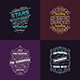 Typography Badges And Labels Vol.16 - GraphicRiver Item for Sale