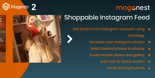 Magento 2 Shoppable Instagram Feed - CodeCanyon Item for Sale