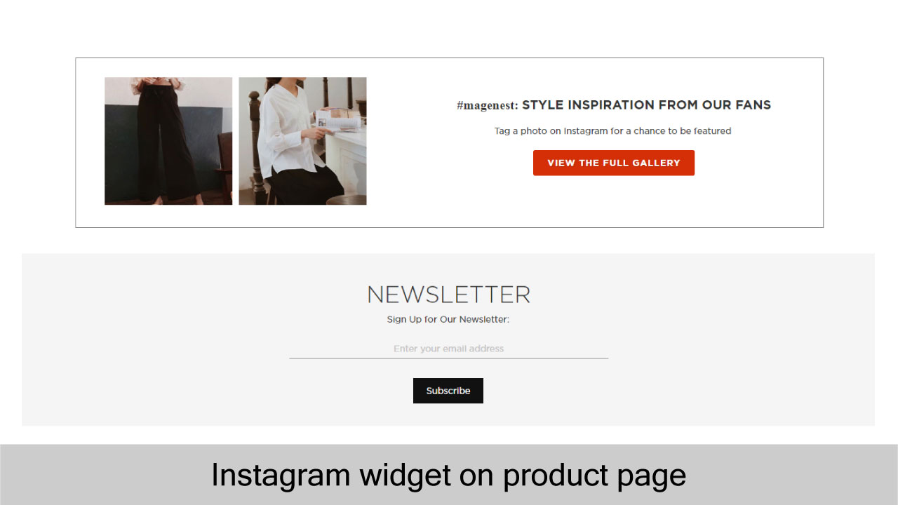 Magento 2 Shoppable Instagram Feed