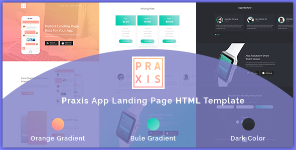 AppPraxis - App Landing Page - Technology Site Templates