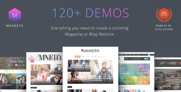 Magneto - ECommerce Multi Concept Newspaper / News / Magazine / Blog WordPress Theme