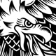 American Screaming Eagle Tattoo Vector Illustration