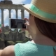 Woman Near Forum Roman Taking Photo on Mobile Phone - VideoHive Item for Sale