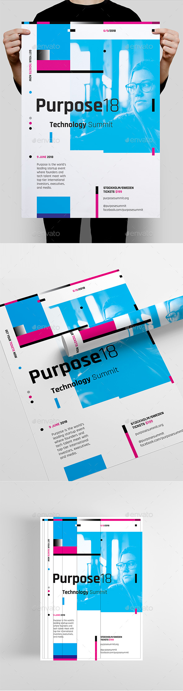 Purpose Series 1 Poster / Flyer Template - Corporate Flyers