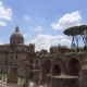 Panorama of Ancient Ruins Forum Romanum in Roman Forum in Center of Rome City, Italy - VideoHive Item for Sale