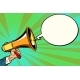 Megaphone and Comic Bubble - GraphicRiver Item for Sale