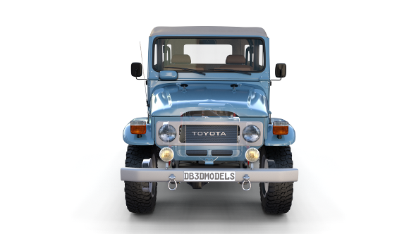 Toyota Land Cruiser FJ 40 Soft Top with Interior and Chassis - 3DOcean Item for Sale
