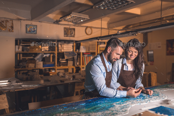 Young professionals at work - Stock Photo - Images