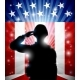 Soldier Saluting American Flag Background - GraphicRiver Item for Sale