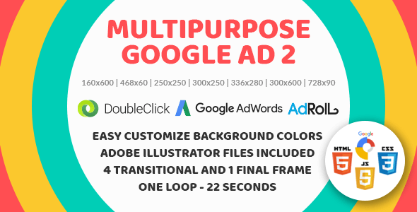 Multipurpose Google Ad 2 - Animated HTML5 Banner Ad Templates (GWD) - CodeCanyon Item for Sale
