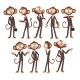 Monkey Businessman Cartoon - GraphicRiver Item for Sale
