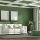 Green classic living room - PhotoDune Item for Sale