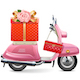 Vector Pink Scooter with Gift - GraphicRiver Item for Sale