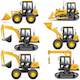 Vector Yellow Construction Machinery - GraphicRiver Item for Sale