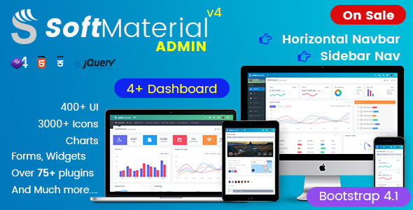 Image of Soft Material - Bootstrap Admin Templates Web Apps & UI Kit Dashboards