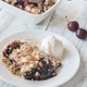 Portion of berry crumble with ice cream - PhotoDune Item for Sale