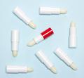Lip balms flat lay - PhotoDune Item for Sale