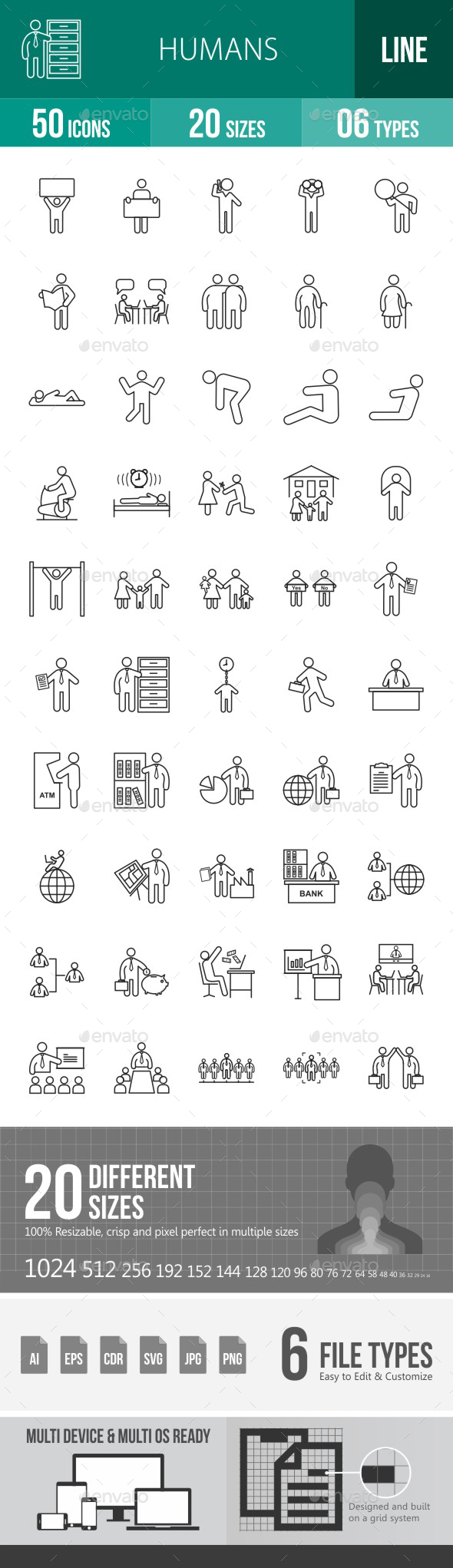 Humans Line Icons - Icons