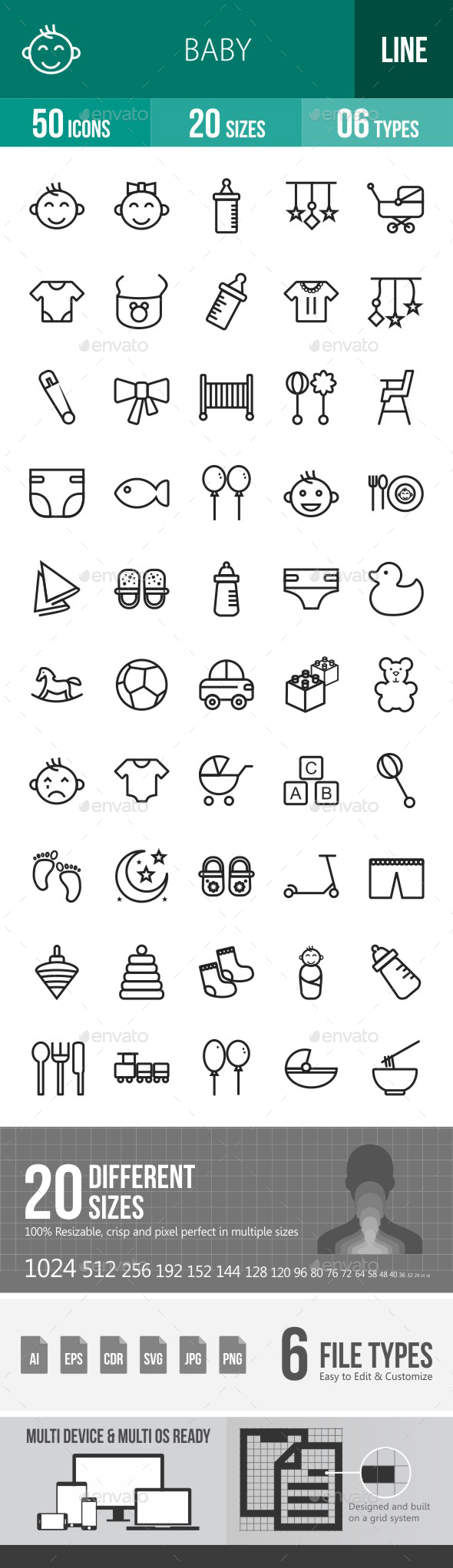 Baby Line Icons - Icons