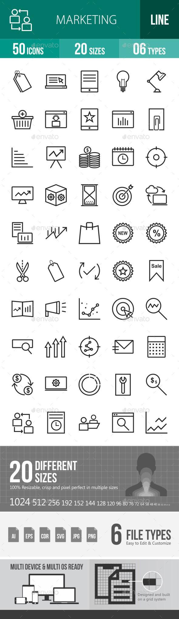 Marketing Line Icons - Icons