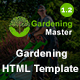 Gardening Master - Gardening and Landscaping HTML5 Responsive Template - ThemeForest Item for Sale