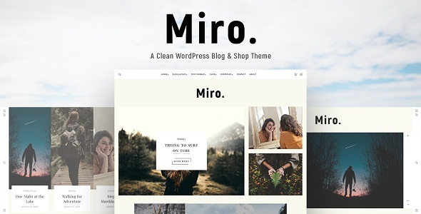 Miro – A Clean WordPress Blog & Shop Theme