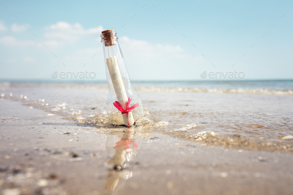 Message in a bottle - Stock Photo - Images