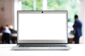 Laptop with blank screen in office - PhotoDune Item for Sale