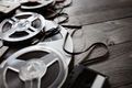 Old audio reels and cassette tape background - PhotoDune Item for Sale