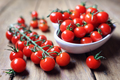 Cherry tomatoes on the vine - PhotoDune Item for Sale