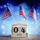 4th of July American Independence Day calendar and flags - PhotoDune Item for Sale